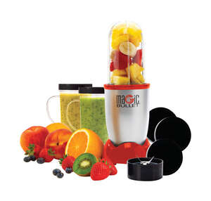 Magic Bullet  As Seen on TV  Blender and Food Processor  Stainless Steel  1  19  Red
