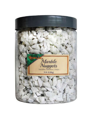 Mosser Lee  Marble Nuggets  White  Decorative Stone  5 lb.