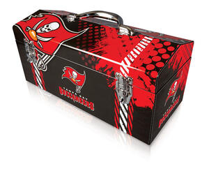 Sainty International  16.25 in. Steel  Tampa Bay Buccaneers  Art Deco Tool Box  7.1 in. W x 7.75 in.