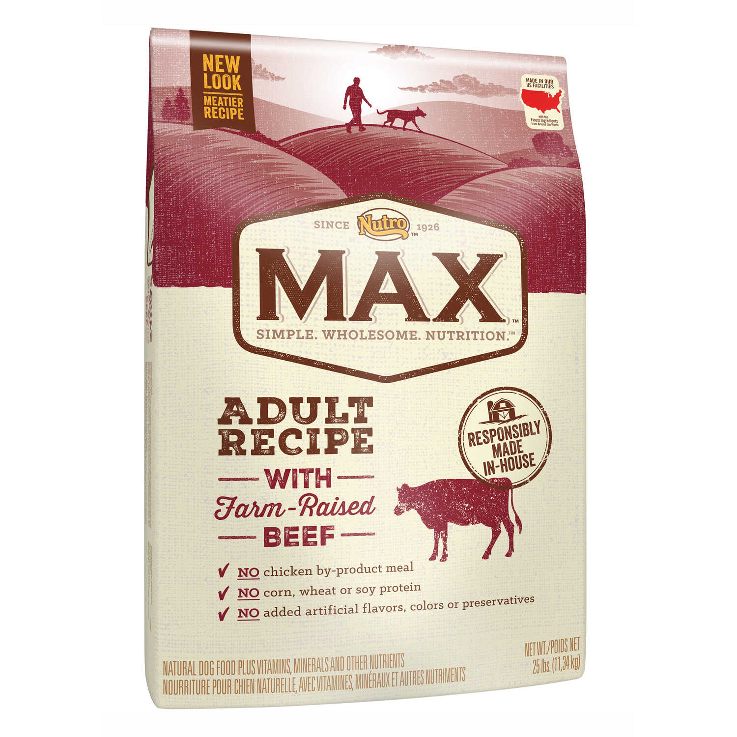Nutro  Max  Beef, Brown Rice  Dry  Dog  Food  25 lb.