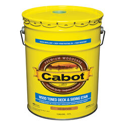 Cabot  Transparent  19204 Heartwood  Oil-Based  Deck and Siding Stain  5 gal.
