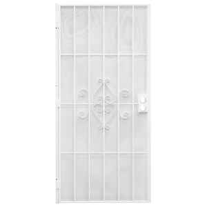 Precision  81-3/4 in. H x 32 in. W Regal  White  Steel  Security Door