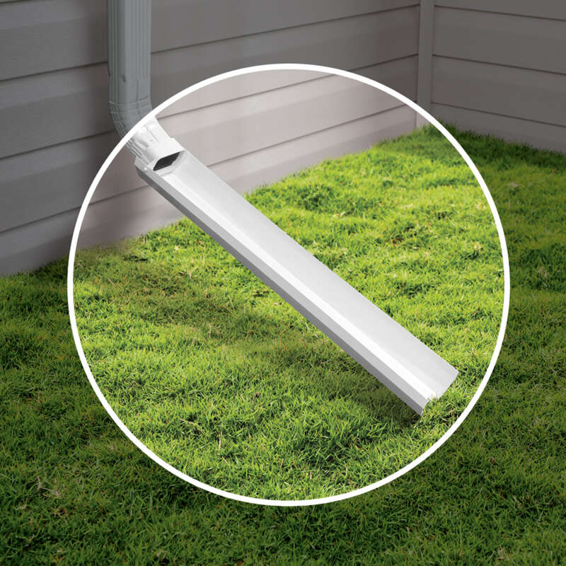 Amerimax  2 in. H x 3 in. W x 30 in. L Vinyl  White  Downspout Extension