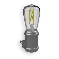 Westek AmerTac Automatic Plug-in Vintage Edison Aged Nickel LED Night Light