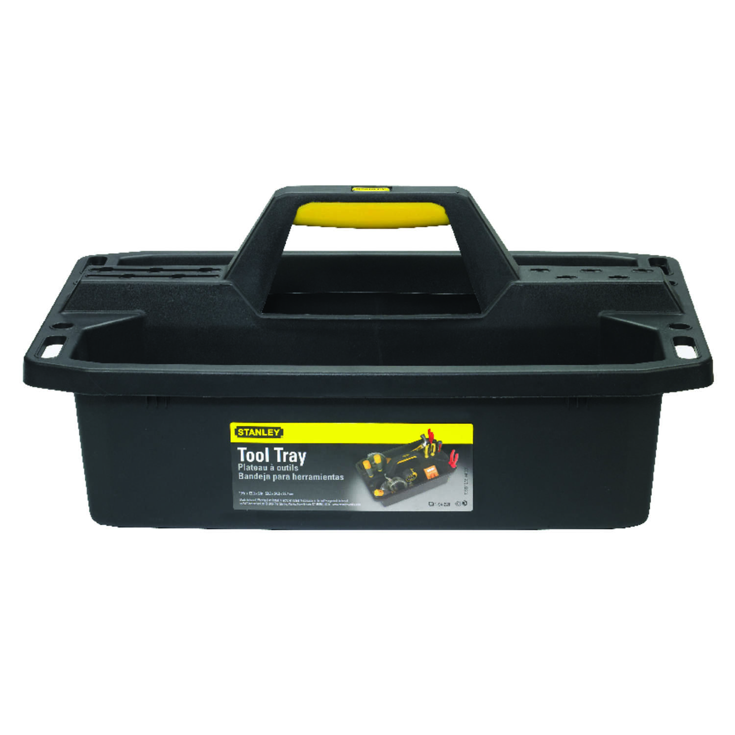 Stanley 19.5 in. Impact-Resistant Poly Tool Caddy 13 in. W x 7.7 in. H Black