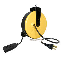 Ace  30 ft. L Yellow  Extension Cord with Reel