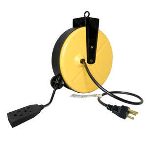 Ace  30 ft. L Extension Cord with Reel  Yellow