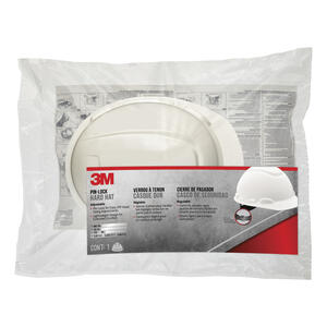3M  White  1 pk Polyethylene  Hard Hat