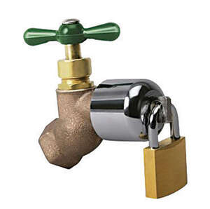 Conservco  3/4 in. Hose  Dia. x .75 in. Dia. MPT  Brass  2 in. Hose Bibb Lock