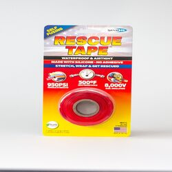 Rescue Tape  Red  12 ft. L x 1 in. W Silicone Tape