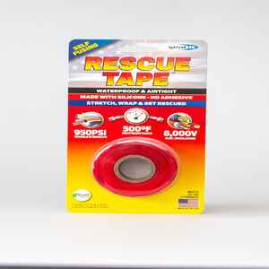 Rescue Tape  1 in. W x 12 ft. L Red  6 oz. Silicone Tape