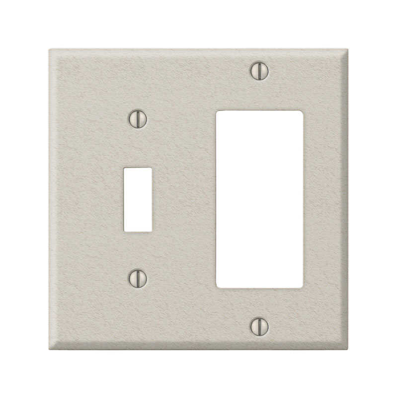 Amerelle  Contractor  2 gang Steel  Wall Plate  1 pk