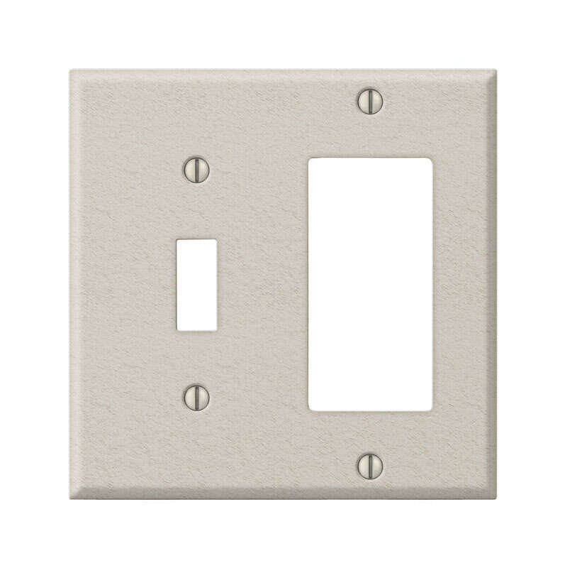 Amerelle  Contractor  2 gang Steel  Rocker/Toggle  Wall Plate  1 pk