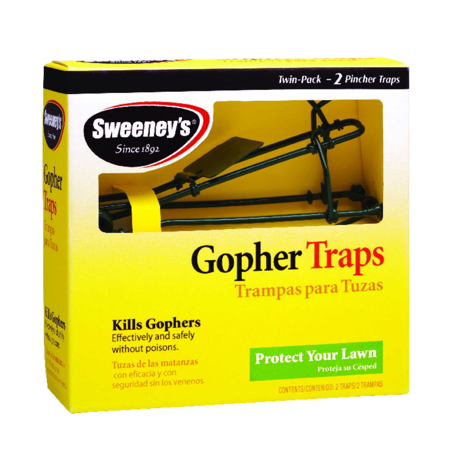 Sweeney's  Medium  Pincher  Animal Trap  For Gophers 2 pk