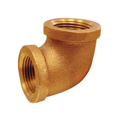 JMF  1-1/4 in. FPT   x 1-1/4 in. Dia. FPT  Brass  90 Degree Elbow