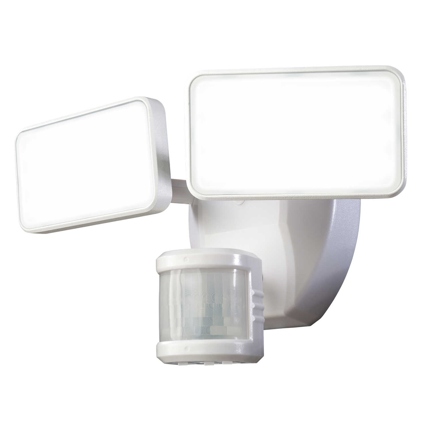 Heathco  Hardwired  LED  Plastic  Security Wall Light  Motion-Sensing  White
