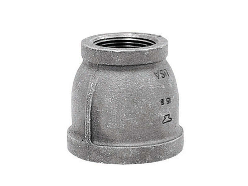 Anvil 1/2 in. FPT x 3/8 in. Dia. FPT Galvanized Malleable Iron Reducing Coupling
