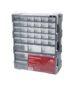 Ace  6-1/4 in. L x 15 in. W x 19 in. H Storage Organizer  Plastic  39 compartment Gray