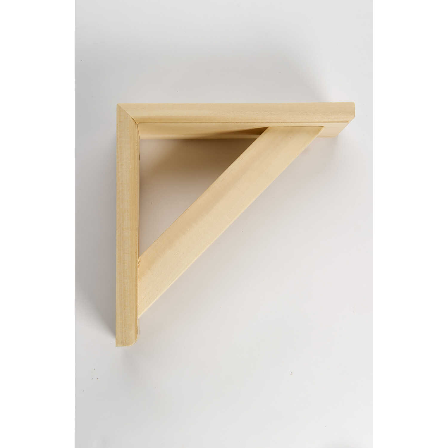 Waddell  Natural  Wood  Shelf Support  Bracket  9 in. L 5 lb.