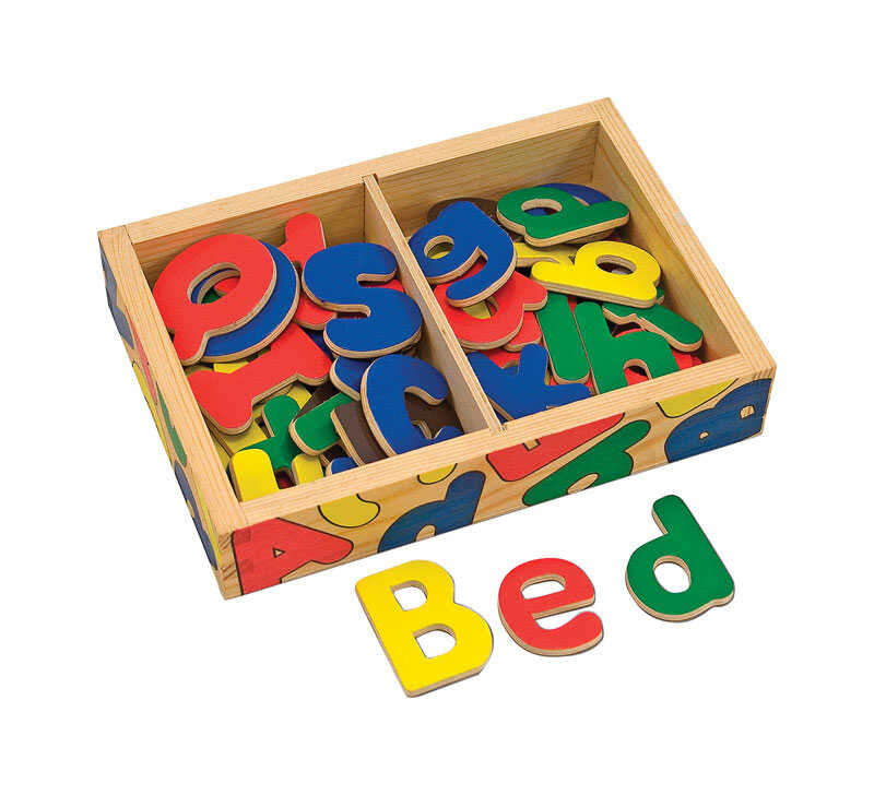 Melissa & Doug  Wooden Alphabet Set  Wood
