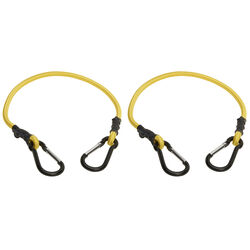 Keeper Yellow Carabiner Style Bungee Cord 24 in. L x 0.315 in. 1 pk