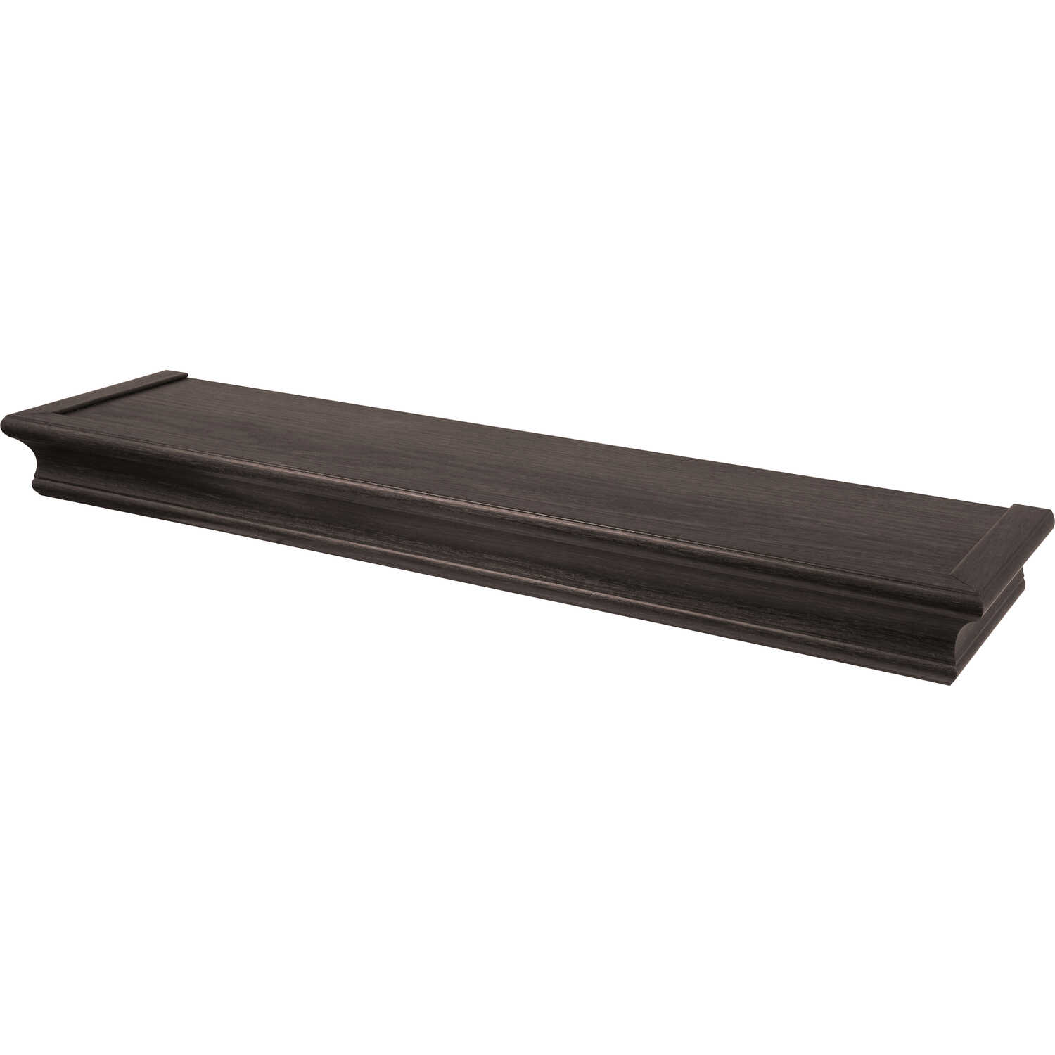HIGH AND MIGHTY  2.5 in. H x 24 in. W x 6 in. D Espresso  Plastic  Shelf