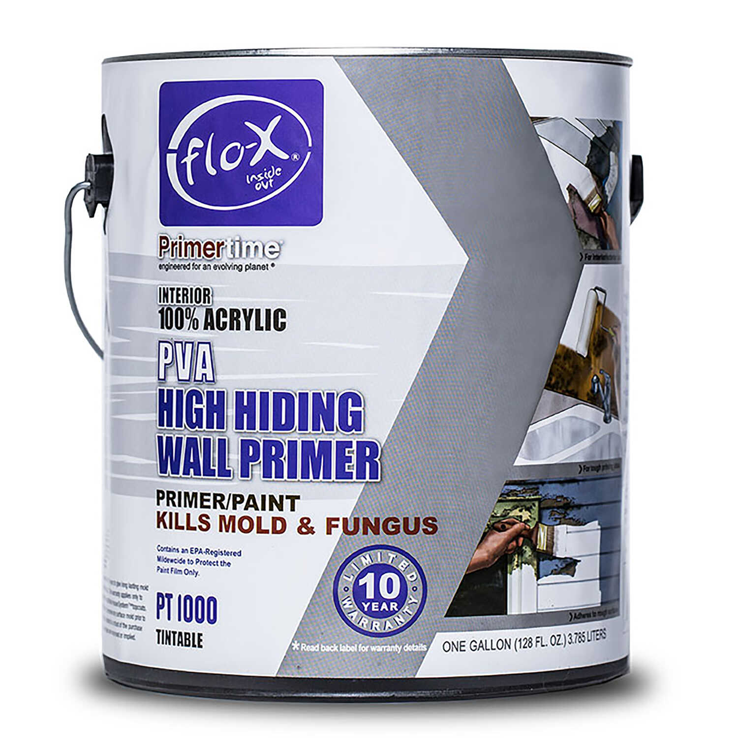 Flo-X  Primertime  Smooth  Clear  Water-Based  Acrylic  Primer  For Drywall 1 gal.