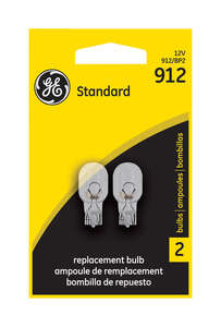 GE Replacement Bulb 912-BP For Dome or Map Light 12.8 volts 2 Carded
