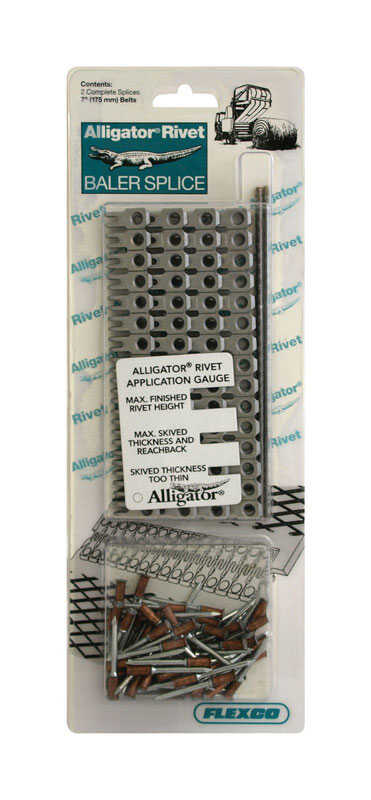 Flexco  Stainless Steel  Alligator Rivet Baler Splice