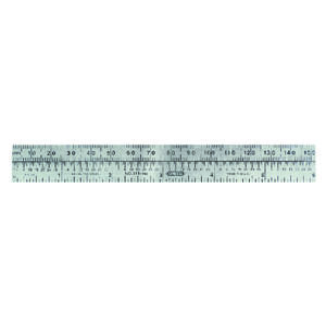 General Tools  6 in. L x 3/4 in. W Stainless Steel  Precision Pocket Rule