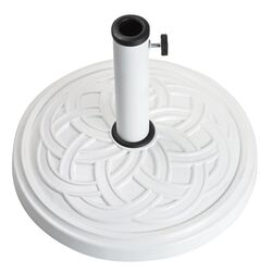 Bond  White  Envirostone  Umbrella Base  17.7 in. L x 17.7 in. W x 12.8 in. H