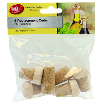 Tablecraft  Beige  Synthetic  Replacement Corks