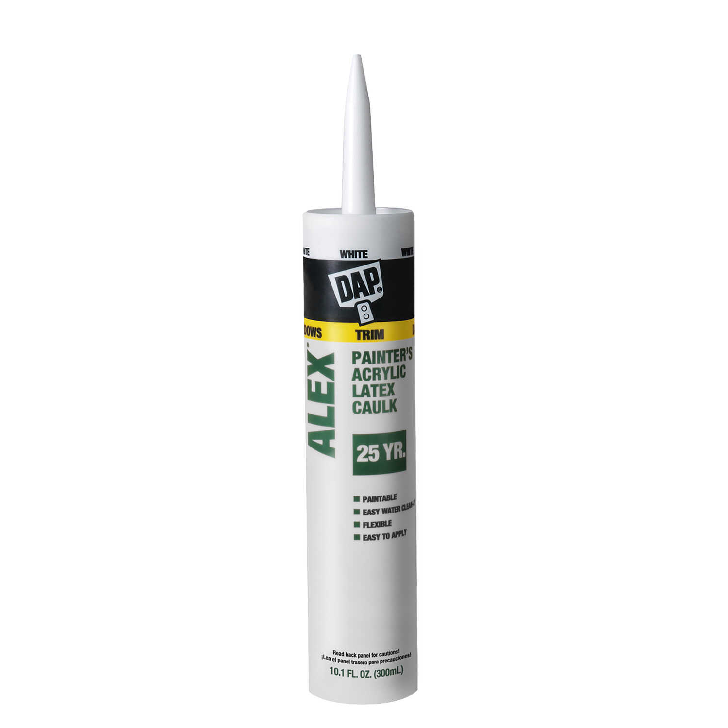 DAP  White  Latex  Caulk  10.1 oz.