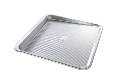 USA Pan  14 in. W x 14 in. L Cookie Sheet  Silver