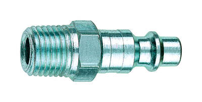 Tru-Flate  Steel  3/8 in. I/M Style  Plug  1/4 in. Male  1 pc.