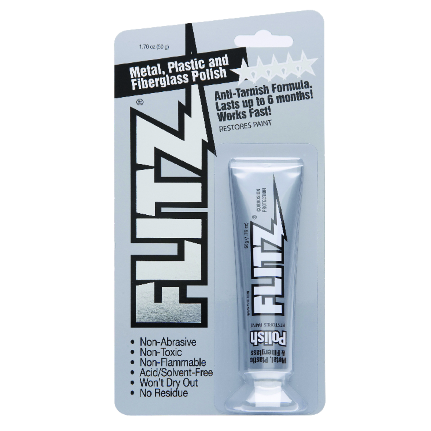Flitz No Scent Metal Polish 50 gm Cream - Ace Hardware