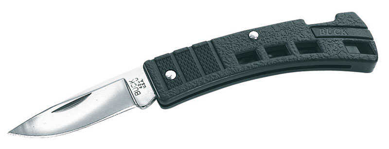 Buck Knives  MiniBuck  Black  420 HC Stainless Steel  4.75 in. Folding Knife