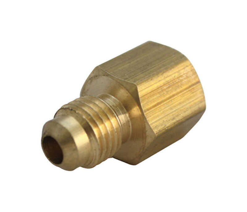JMF  1/4 in. Flare   x 3/8 in. Dia. FPT  Brass  Flare Adapter