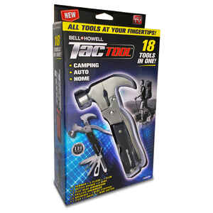 Bell and Howell  As Seen On TV  18 Tools In One  TacTool  ABS/Rubber/Stainless Steel  1 pk