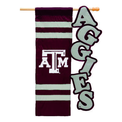 Evergreen  Texas A&M  Garden Flag  12-1/2 in. H x 18 in. W