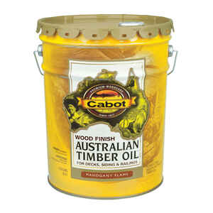 Cabot  Australian Timber Oil  Transparent  Mahogany Flame  5 gal.
