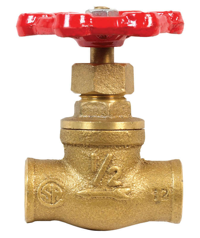 BK Products  ProLine  1/2 in. Sweat   x 1/2 in.  Sweat  Brass  Stop Valve