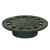 Sioux Chief  6-3/4 in. Weathered  Cast Iron  Round  Floor Drain Replacement Strainer