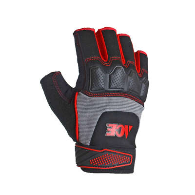 Ace Men's Indoor/Outdoor Synthetic Leather Fingerless Work Gloves Black/Gray XL 1