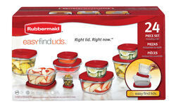 Rubbermaid  Assorted  Food Storage Container Set  12 pk Clear