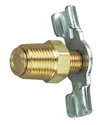 Tru-Flate  Steel  Drain Cock  1/4 in. Male  NPT  1 pc.