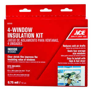 Ace  Clear  Indoor  Window Film Insulator Kit  14 in. W x 168 in. L