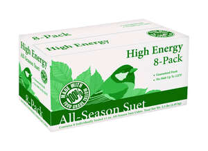 Heath  High Energy 8-Pack  Songbird  Suet  Beef Suet  11 oz.