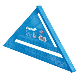 Empire  POLYCAST  12 in. L x 12 in. H Polycast  Heavy Duty  Rafter Square  Blue