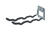 Crawford Zinc-Plated Gray Steel Hanger Holder 50 lb. capacity 1 pk